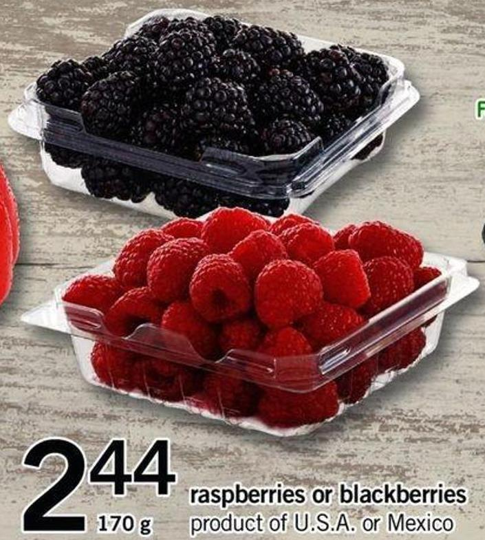 Raspberries Or Blackberries - 170 G