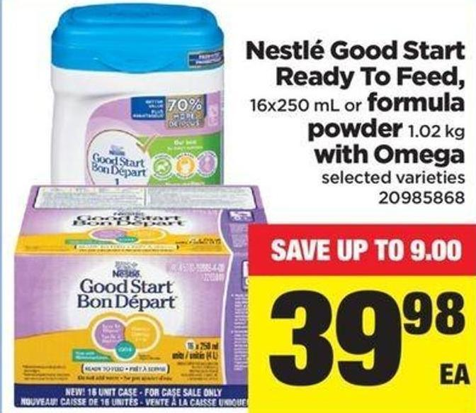 Nestlé Good Start Ready To Feed - 16x250 Ml Or Formula Powder 1.02 Kg With Omega