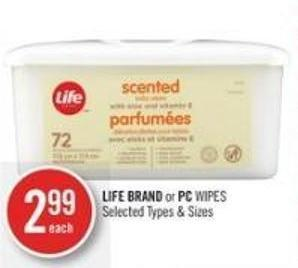 Life Brand or PC Wipes