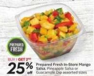 Prepared Fresh In-store Mango Salsa - Pineapple Salsa or Guacamole Dip