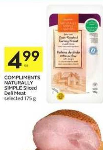 Compliments Naturally Simple Sliced Deli Meat Selected 175 g