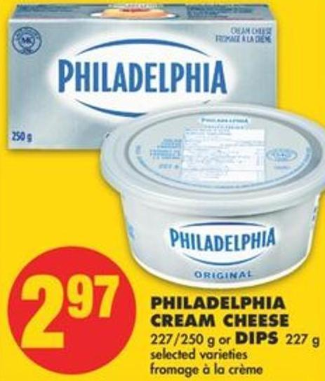 Philadelphia Cream Cheese - 227/250 g or Dips - 227 g