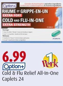 Option+ Cold & Flu Relief All-in-one Caplets 24
