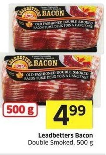 Leadbetters Bacon Double Smoked - 500 g