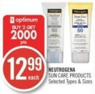 Neutrogena Sun Care Products