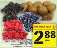 Raspberries Or Blackberries Or Blueberries Or Kiwi