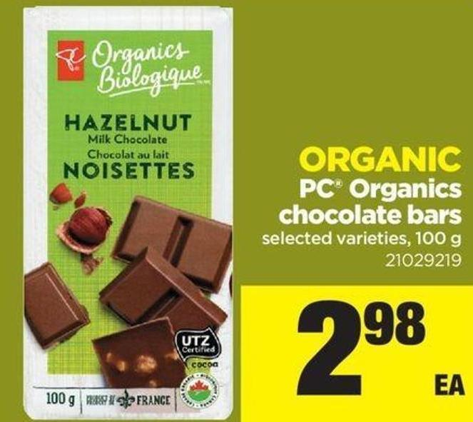 Organic PC Organics Chocolate Bars - 100 g