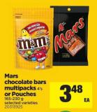 Mars Chocolate Bars Multipacks4's Or Pouches - 165-230 g