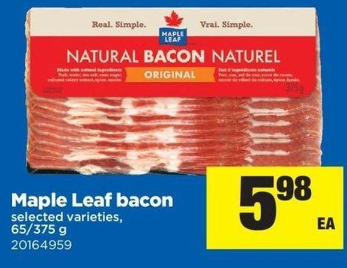Maple Leaf Bacon - 65/375 G