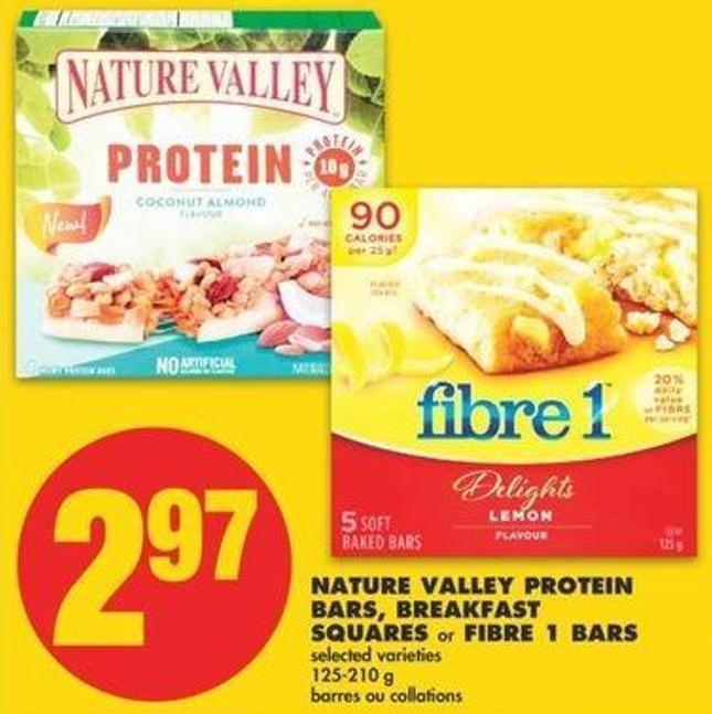 Nature Valley Protein Bars - Breakfast Squares Or Fibre 1 Bars - 125-210 G