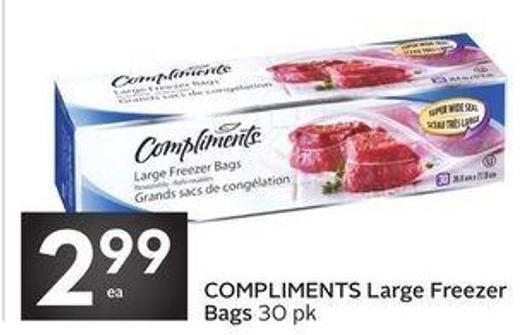 Compliments Large Freezer Bags