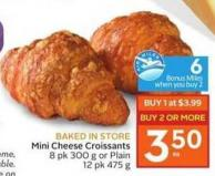 Mini Cheese Croissants - 10 Air Miles Bonus Miles
