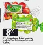PC Organics Granny Smith Or Gala Apples - 3 Lb Bag