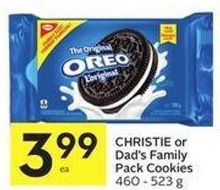 Christie or Dad's Family Pack Cookies 460 - 523 g