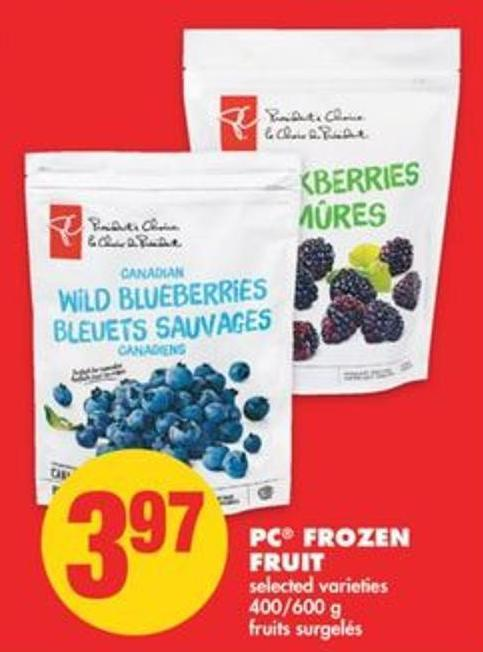PC Frozen Fruit - 400/600 g