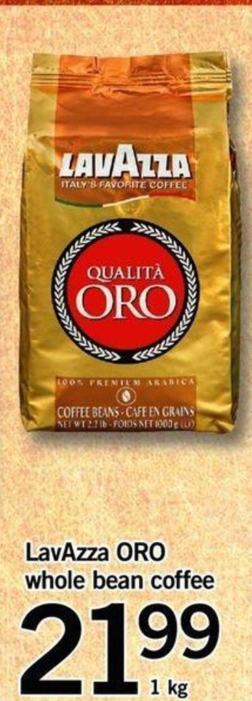 Lavazza Oro Whole Bean Coffee