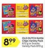 Old Dutch Kettle Chips Variety Pack