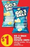 Go 2 Snax Kettle Potato Chips