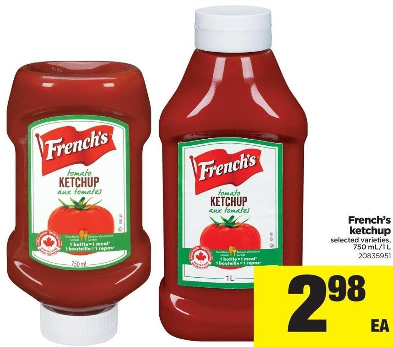 French's Ketchup - 750 Ml/1 L