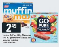 Leclerc Go Pure 140 G - Chocomax 160-192 G Or Muffinmax 223 G Bars