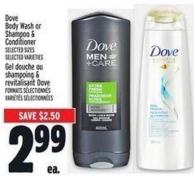Dove Body Wash Or Shampoo & Conditioner