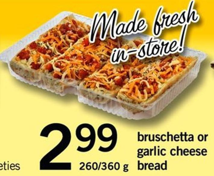 Bruschetta Or Garlic Cheese Bread - 260/360 G