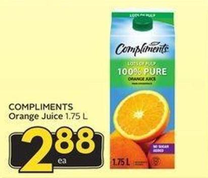 Compliments Orange Juice