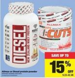 Allmax Or Diesel Protein Powder