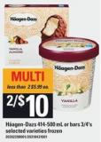 Häagen-dazs - 414-500 Ml Or Bars - 3/4's