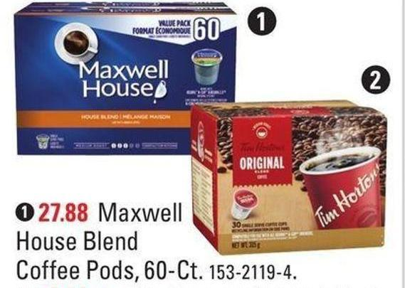 1. Maxwell House Blend Coffee Pods - 60-ct