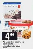 PC Loads Of Ice Cream - 1.5 L Or Frozen Bars - 4's