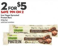 Iron Vegan Sprouted  Protein Bars 64g Bar