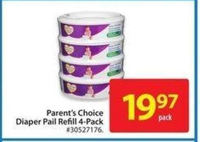 Parent's Choice Diaper Pail Refill 4-pack