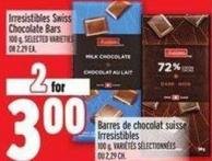 Irresistibles Swiss Chocolate Bars 100 g