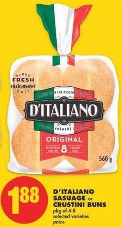 D'italiano Sausage Or Crustini Buns - Pkg Of 4-8