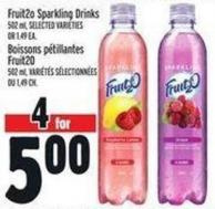 Fruit2o Sparkling Drinks 502 ml