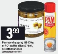 Pam Cooking Spray 113-170 G Or PC Stuffed Olives 375 Ml