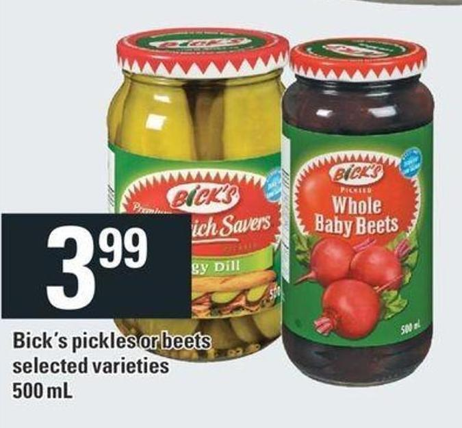 Bick's Pickles Or Beets - 500 Ml