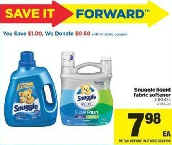 Snuggle Liquid Fabric Softener - 2.8-3.41 L