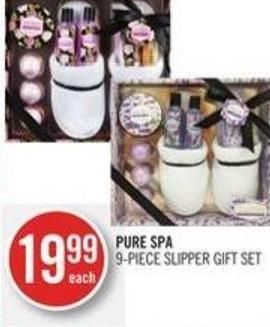 Pure Spa 9-piece Slipper Gift Set