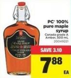 PC 100% Pure Maple Syrup.500 mL