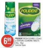Polident Fresh Cleanse (125ml) Or Denture Cleansing Tablets (84g - 96g)