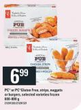 PC Or Pcgluten Free - Strips - Nuggets Or Burgers - 600-800 g