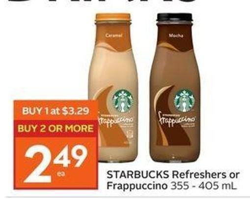 Starbucks Refreshers or Frappuccino