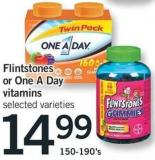 Flintstones Or One A Day Vitamins - 150-190's
