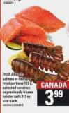 Fresh Atlantic Salmon Or Rainbow Trout Portions - 113 G Or Previously Frozen Lobster Tails - 2-3 Oz Size