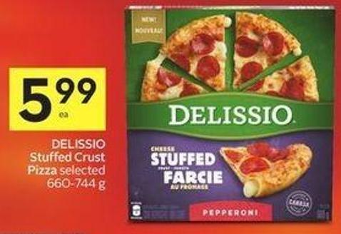 Delissio Stuffed Crust Pizza Selected 660-744 g
