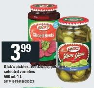 Bick's Pickles - Beets & Pepper Rings - 500 Ml-1 L