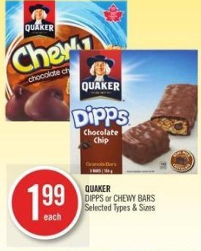 Quaker Dipps or Chewy Bars