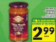 Patak's Cooking Sauce